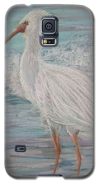 Galaxy S5 Case featuring the painting White Ibis At Dusk by Sandra Strohschein