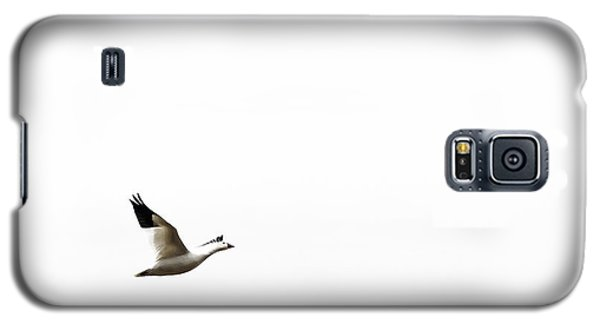 White In Flight Galaxy S5 Case