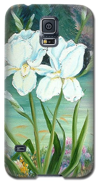 White Iris Love Galaxy S5 Case