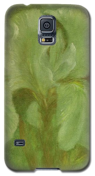 White Iris Painterly Texture Galaxy S5 Case