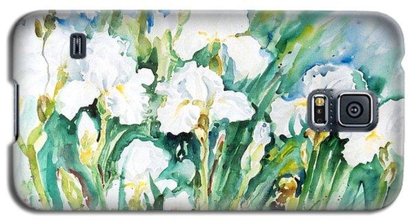 White Irises Galaxy S5 Case