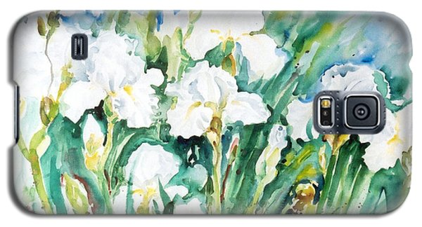 White Irises Galaxy S5 Case