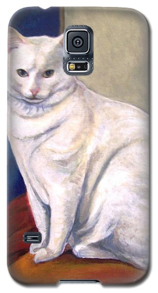 White Kitty Galaxy S5 Case