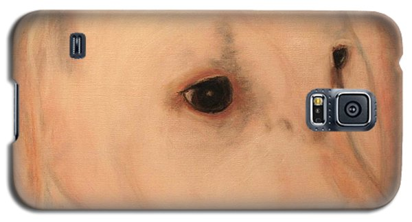 White Lab - Sugar Galaxy S5 Case by Laura  Grisham