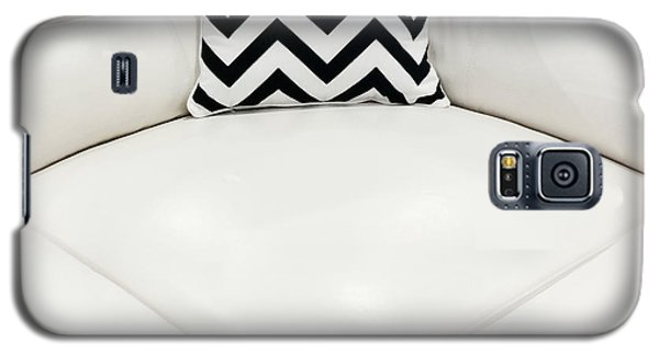 White Leather Sofa With Decorative Cushion Galaxy S5 Case