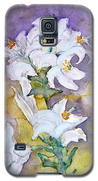 White Lilies Galaxy S5 Case by Jasna Dragun