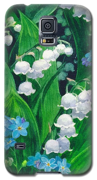 White Lilies Of The Valley Galaxy S5 Case by Sergey Lukashin