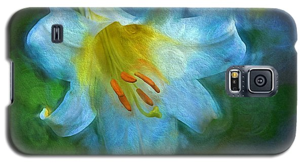 White Lily Obscure Galaxy S5 Case
