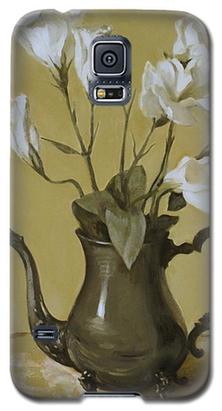 White Lisianthus In Silver Coffeepot Galaxy S5 Case