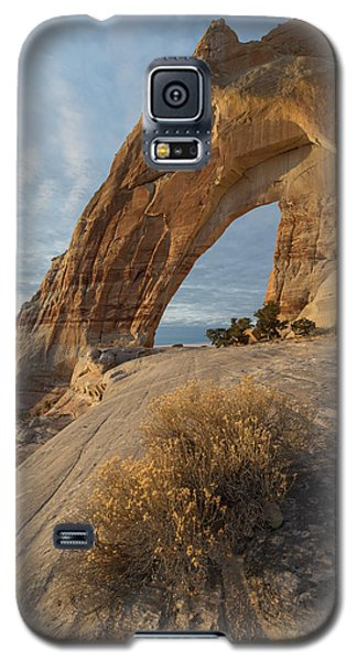 Galaxy S5 Case featuring the photograph White Mesa Arch by Dustin LeFevre