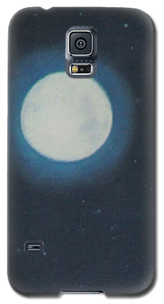 White Moon At Night Galaxy S5 Case