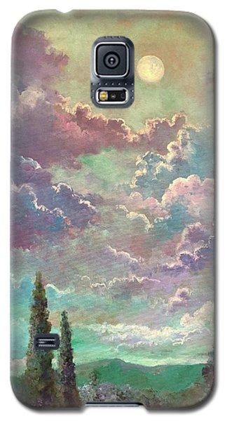 White Moon Rising Galaxy S5 Case