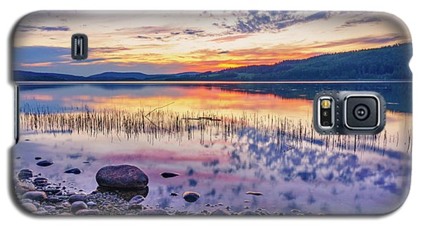 Galaxy S5 Case featuring the photograph White Night Sunset On A Swedish Lake by Dmytro Korol