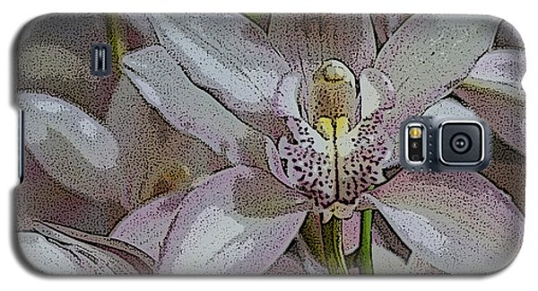 Galaxy S5 Case featuring the photograph White Orchid Flower by Gary Crockett