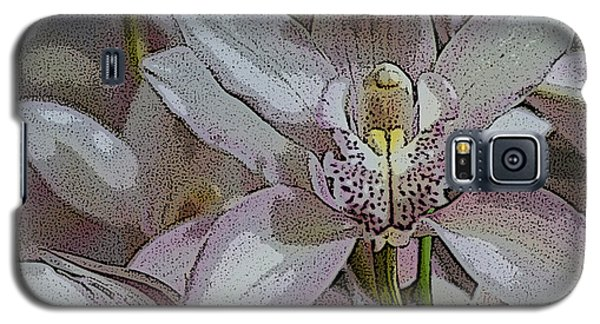 White Orchid Flower Galaxy S5 Case