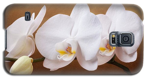 White Orchid Flowers And Bud Galaxy S5 Case by Tom Mc Nemar