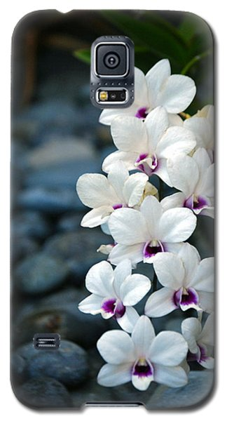 Galaxy S5 Case featuring the photograph White Orchids by Debbie Karnes