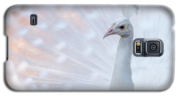 Galaxy S5 Case featuring the photograph White Peacock by Sebastian Musial