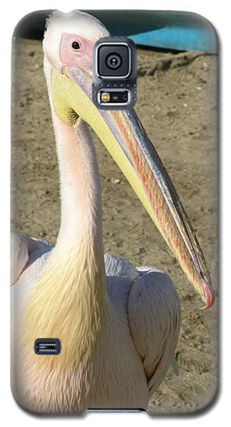 Galaxy S5 Case featuring the photograph White Pelican by Sally Weigand