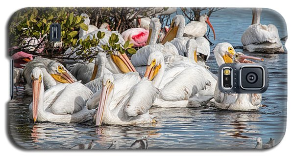 White Pelicans And Others Galaxy S5 Case