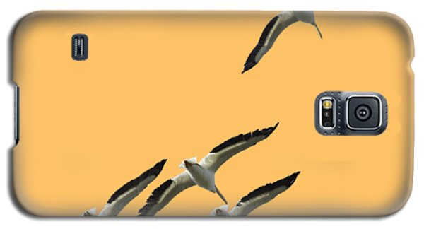 White Pelicans Transparency Galaxy S5 Case