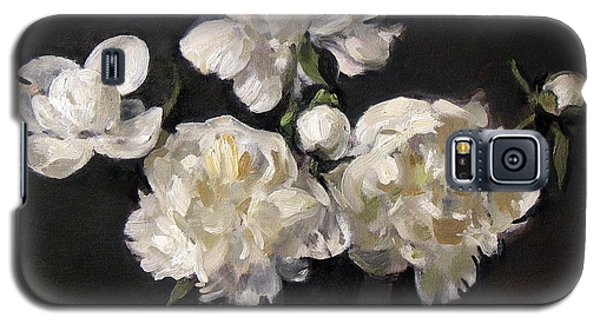 White Peonies Alone Galaxy S5 Case