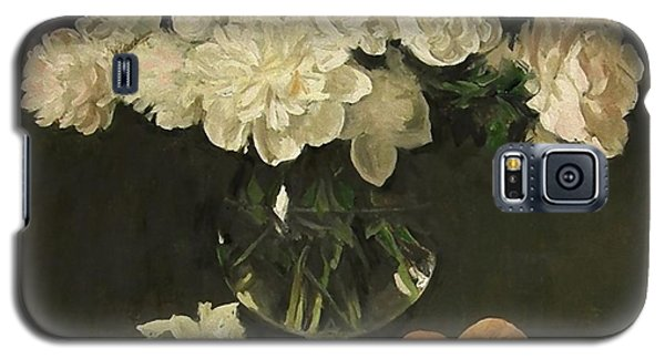 White Peonies In Giant Snifter With Peaches Galaxy S5 Case