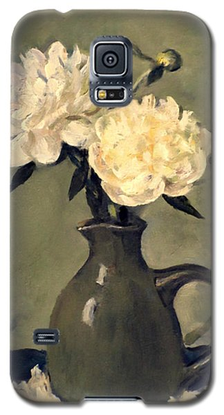 White Peonies In Small Green Pitcher Galaxy S5 Case