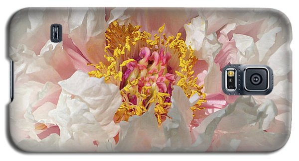 Galaxy S5 Case featuring the photograph White Peony by Sandy Keeton
