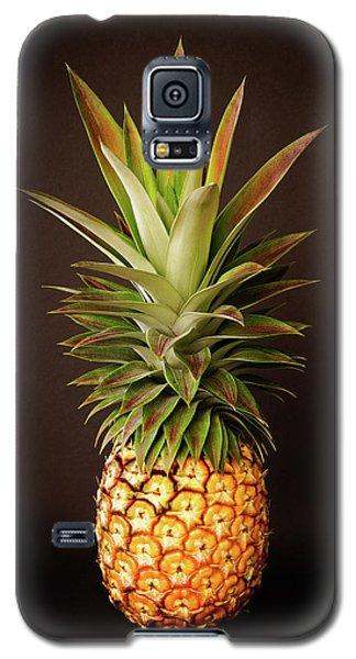 White Pineapple King Galaxy S5 Case