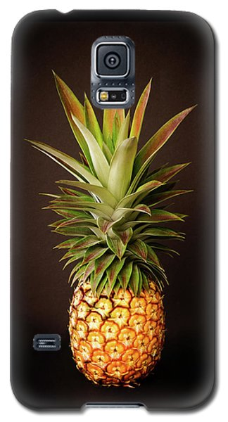 White Pineapple King Galaxy S5 Case
