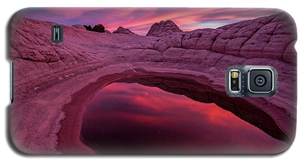 White Pocket Sunset Galaxy S5 Case