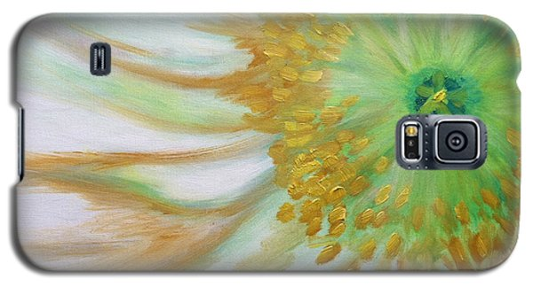 Galaxy S5 Case featuring the painting White Poppy by Sheron Petrie