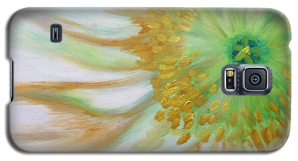 White Poppy Galaxy S5 Case