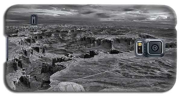 White Rim Overlook Monochrome Galaxy S5 Case