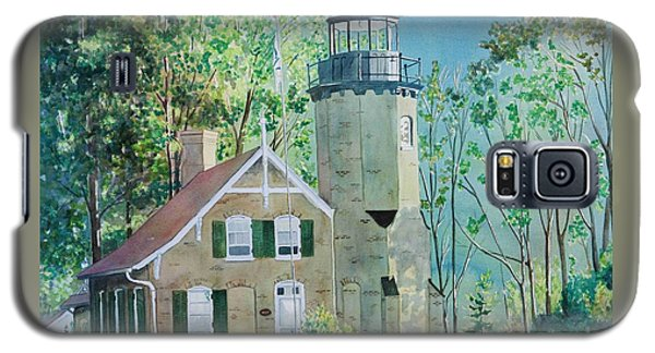 Galaxy S5 Case featuring the painting White River Light by LeAnne Sowa