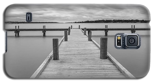 White Rock Lake Pier Black And White Galaxy S5 Case