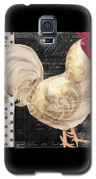 White Rooster Cafe I Galaxy S5 Case by Mindy Sommers