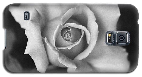 White Rose On Black Galaxy S5 Case