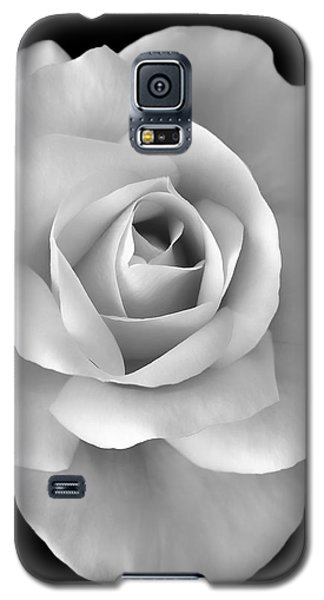 White Rose Flower In Black And White Galaxy S5 Case