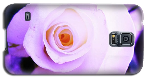 Galaxy S5 Case featuring the photograph White Rose by Mary Ellen Frazee