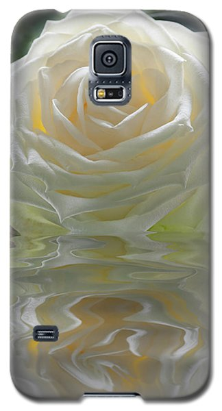 White Rose Reflection Galaxy S5 Case