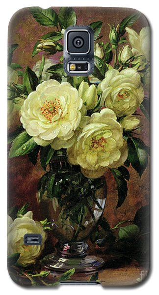 Rose Galaxy S5 Case - White Roses - A Gift From The Heart by Albert Williams