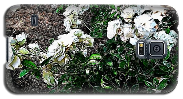 Galaxy S5 Case featuring the photograph White Roses by Joan  Minchak