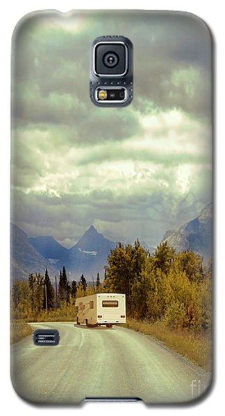 Galaxy S5 Case featuring the photograph White Rv In Montana by Jill Battaglia