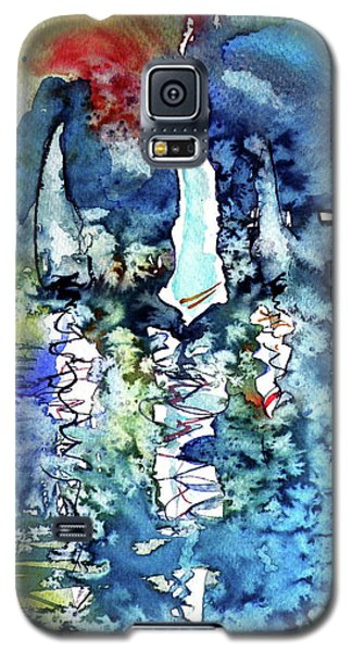 White Sailboats At Sunset Galaxy S5 Case by Kovacs Anna Brigitta