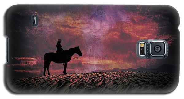 White Sands Horse And Rider #4c Galaxy S5 Case