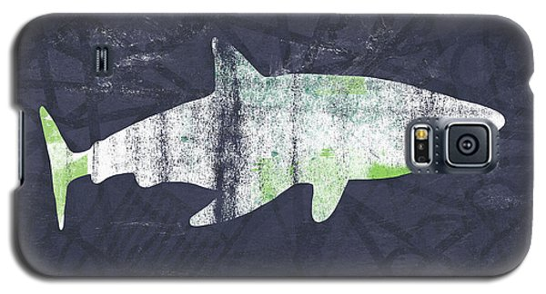 White Shark- Art By Linda Woods Galaxy S5 Case
