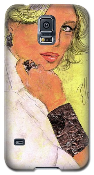 Galaxy S5 Case featuring the painting White Silver by P J Lewis