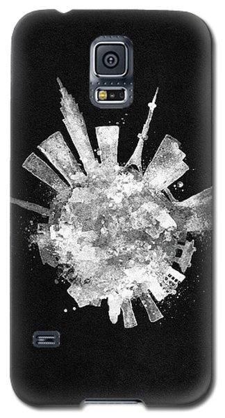 White Skyround / Skyline Art Of Tokyo, Japan Galaxy S5 Case